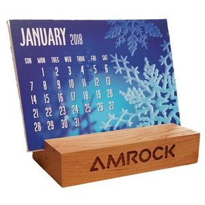 "2"" x 4"" Hardwood Block - Holds everything from cell phones to calendars - USA-Made"