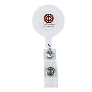 Retractable Badge Holder With Laminated Label