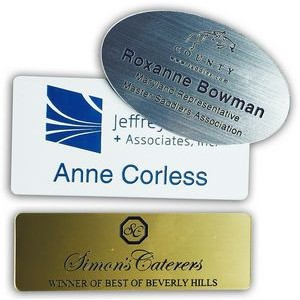 "Name Badge - Plastic Engraved (1""x3"")"